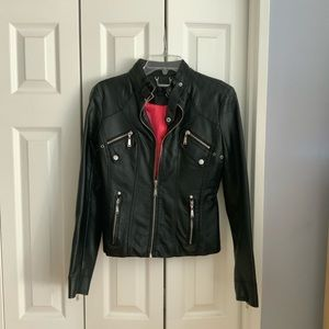 Jackets & Blazers - Leather (pleather) jacket Kohl's juniors section